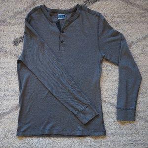 J Crew Blue/White Micro-stripe Long Sleeve T-shirt